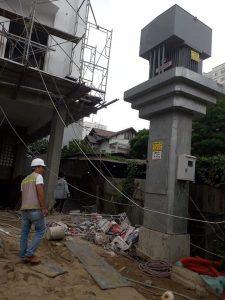 One-pillar Transformer Substation