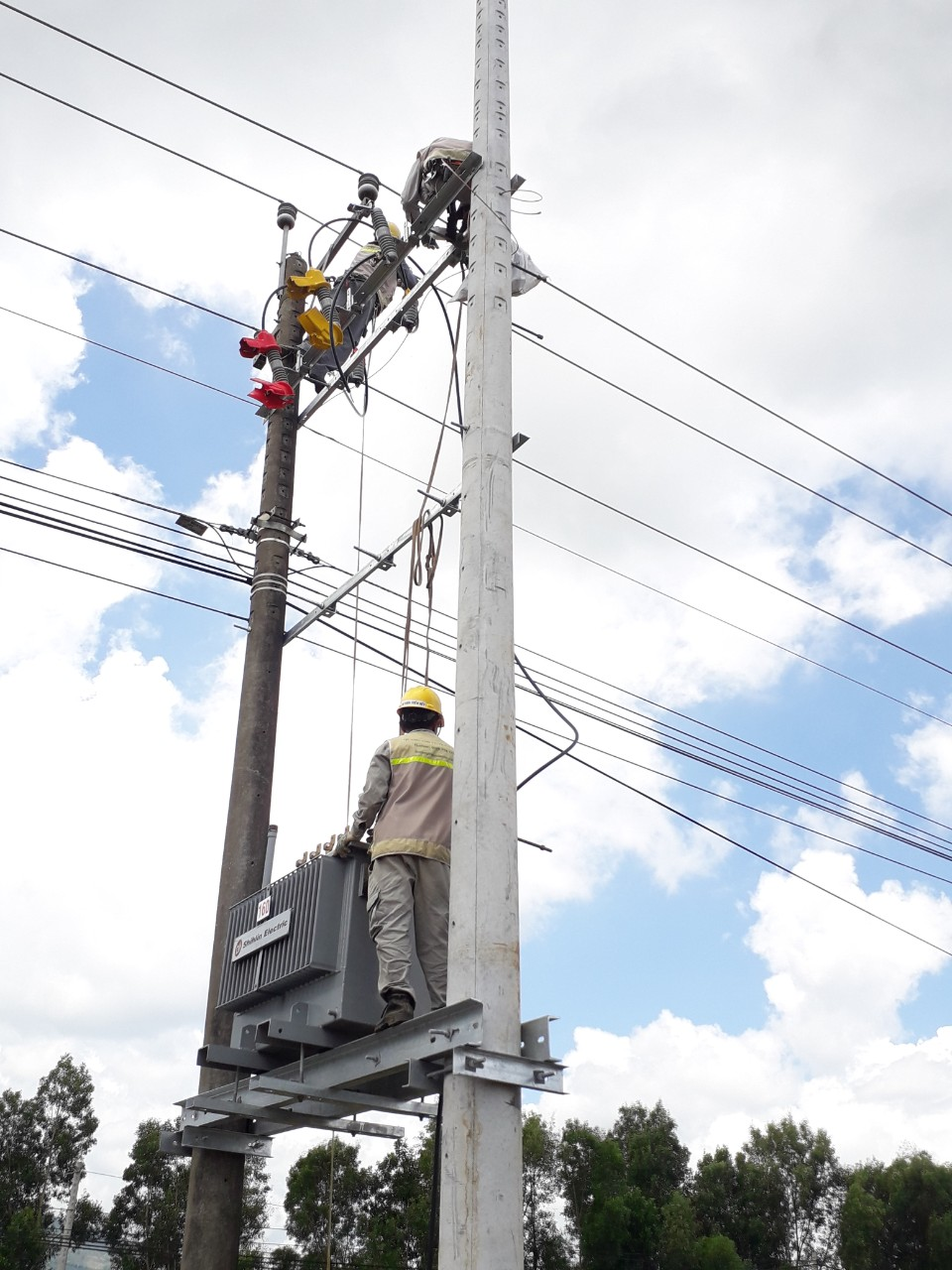 Two Pole Mounted Transformer